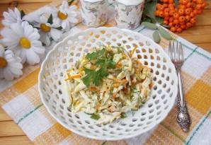 Салат с курицей и лапшой из омлета - фото шаг 13