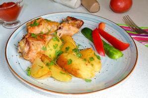 Картошка с куриными ножками в рукаве - фото шаг 7