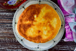 Хлеб на сковороде без дрожжей - фото шаг 9