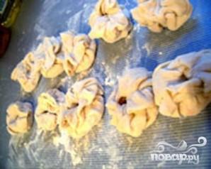 Хрустящие мешочки с креветками - фото шаг 4