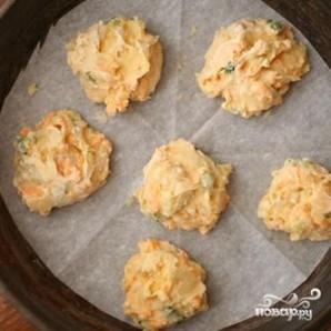 Сырные пуфы с зеленым луком - фото шаг 2