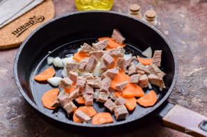 Овсяная каша с мясом - фото шаг 3
