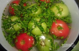 Малосольные помидоры по-армянски с чесноком - фото шаг 4