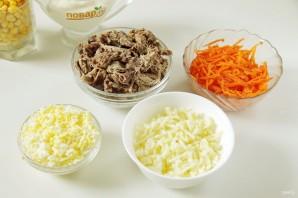 Салат с говядиной и кукурузой - фото шаг 2