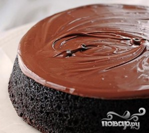 Шоколадный пирог с орехами - фото шаг 6