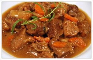 Тушеное мясо с грибами - фото шаг 6