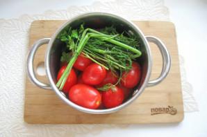 Засолка помидоров в кастрюле - фото шаг 4
