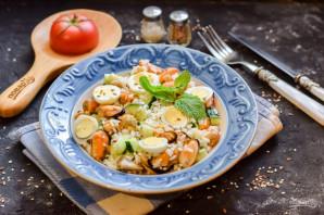 Салат с мидиями и рисом - фото шаг 9