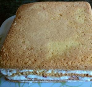 Торт с кусочками фруктов - фото шаг 4
