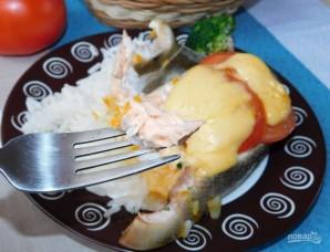 Горбуша с овощами в фольге в духовке - фото шаг 5