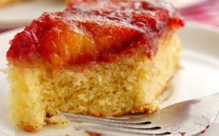 Сливовый пирог перевертыш - фото шаг 10