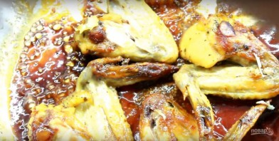 Куриные крылышки в медово-горчичном соусе - фото шаг 4