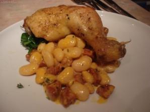 Курица с фасолью в мультиварке - фото шаг 7