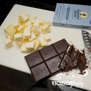 Шоколадный пирог с сердцем - фото шаг 1