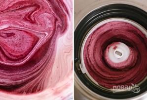 Замороженный йогурт с черникой - фото шаг 4