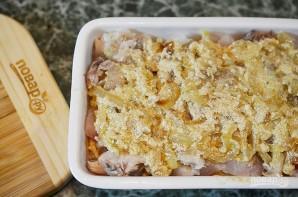 Пирог с рыбой и луком в горчичном соусе - фото шаг 9