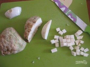 Овощной крем-суп с сухариками - фото шаг 3