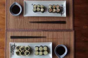 Cыроедческие суши - фото шаг 5