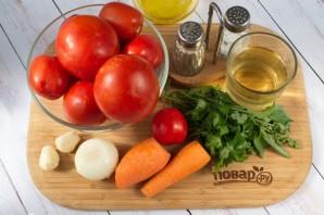 Зимний соус из запеченных помидоров - фото шаг 1