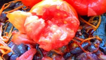 Красный борщ с фасолью - фото шаг 10