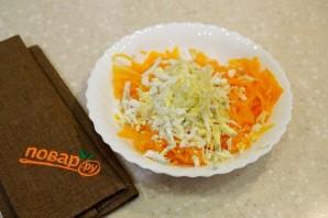 Салат из тыквы с яйцом и чесноком - фото шаг 2