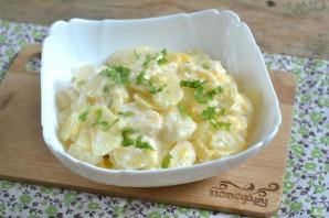 Картофель, запеченный в духовке под соусом - фото шаг 4