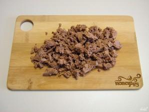 Салат с куриной печенью - фото шаг 4