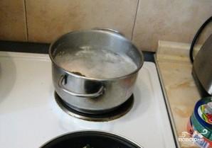 Сырный суп Тануки - фото шаг 1