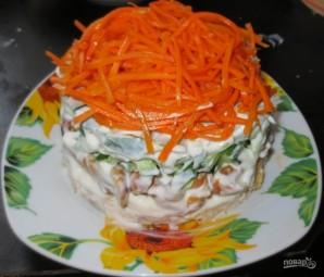 Салат с курицей и огурцами - фото шаг 7