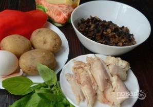 Салат с грибами слоеный - фото шаг 1