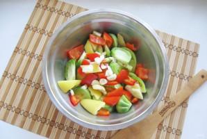 Салат из зеленых помидоров по-грузински - фото шаг 4