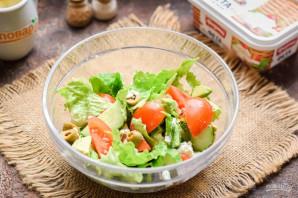 Салат с авокадо и оливками - фото шаг 6