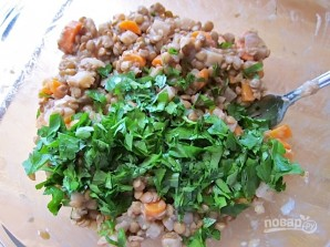 Салат из чечевицы с горчицей - фото шаг 9