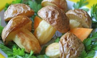 Грибочки из картошки - фото шаг 3