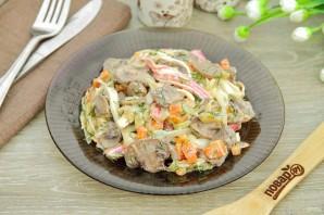 Салат с грибами и крабовыми палочками - фото шаг 8