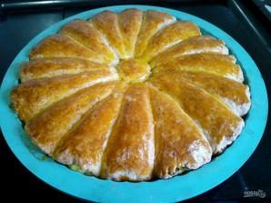 Рожковый пирог с яичной начинкой - фото шаг 11