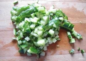 Салат с копченой курицей - фото шаг 3