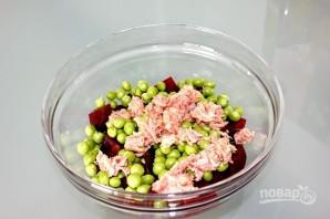 Салат с тунцом и свеклой - фото шаг 5