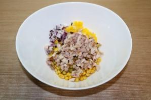 Рисовый салат на Новый год Свиньи - фото шаг 4