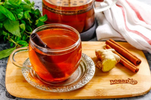 Имбирный чай с корицей - фото шаг 6