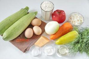 Летний овощной рулет из кабачка - фото шаг 1