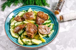 Салат с утиной печенью - фото шаг 7