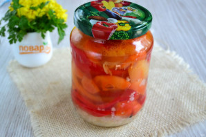 Болгарский перец с чесноком на зиму - фото шаг 7