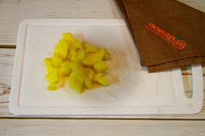 Фриттата с лососем, картофелем и стручковой фасолью - фото шаг 1