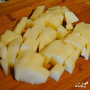 Суп из тыквы с картофелем и луком-пореем - фото шаг 2
