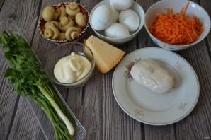 """Салат """"Грибная поляна"""" с корейской морковью - фото шаг 1"""