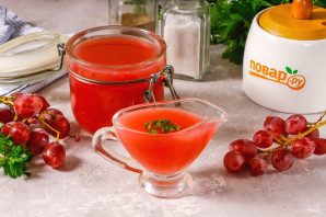 Соус из винограда на зиму - фото шаг 7