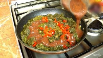 Чакапули (мясо в зелени и вине)  - фото шаг 7