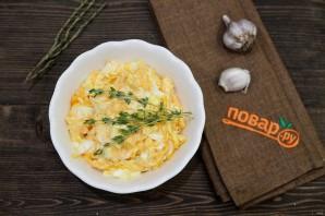 Салат из тыквы с яйцом и чесноком - фото шаг 4