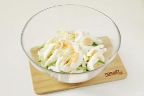 ПП салат с кальмаром - фото шаг 5